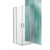 Roltechnik Tower Line TDO1 fix falas aszimmetrikus zuhanykabin, 2 nyílóajtóval 100x110, ragyogó profillal