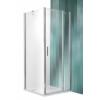 Roltechnik Tower Line TDO1 aszimmetrikus  zuhanykabin egy ajtóval és oldalfallal 90x75, ezüst profillal