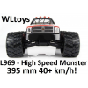 WLtoys L969 - High Speed Monster RC autó: 395 mm hossz, 40+ km/h!