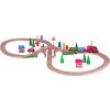 Woodyland Fa vonat szett elemes mozdonnyal
