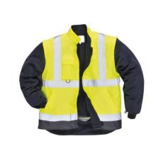 S768 - Jól láthatósági lélegző 5az1-ben kabát - sárga / tengerészkék
