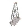 KRAUSE 121226  Monto Tribilo 3X8 fokos sokcélú létra, lépcsőfunkcióval