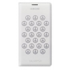 Samsung flip wallet cover (Moschino) S5 EF-WG900R white/silver