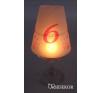 Borospohár lámpaernyő és asztalszám 2 az 1-ben világítás