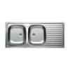 LIVINOX EC138DK karcálló,szövetmintás kétmedence csepptálcás mosogató