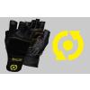 Scitec Nutrition Kesztyű Scitec - Yellow Leather Style férfi fekete, sárga M Scitec Nutrition