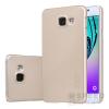 Nillkin Super Frosted hátlap tok Samsung A310 Galaxy A3 (2016), arany + ajándék kijelzővédő fólia