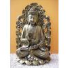 Buddha-thai-tanító lótuszvirágon/antik-arany