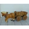 Ló-szekérrel-egy lóval-52cm