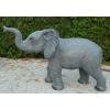Elefánt-115 cm-agyar nélküli/felemelt ormánnyal