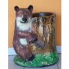 Medve-fatörzzsel/virágtartó