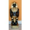 Fáraó-55cm-térdelő-kezében mécsestartó/fekete-arany
