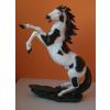 Ló-ágaskodó-90 cm/fekete foltos
