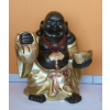 Buddha-kínai-álló/75 cm/bronz-arany-réz