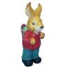 Nyúl-49 cm-húsvéti tojásokkal/piros kabátos