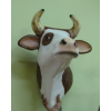 Tehén-60cm-fej/laminált/barna foltos