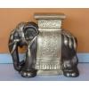 Elefánt-virágtartó/bronz-arany
