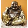 Buddha-kínai-Boldog-gyerekekkel/bronz-arany