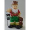 Kerti törpe-Erdész kutyával/lámpával