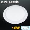 Mini kör LED panel (225 mm) 18 Watt természetes fehér