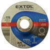 EXTOL PREMIUM EXTOL vágókorong hajlított, acélhoz/inoxhoz; 115×0,8×22,2mm, max 13300 ford/perc