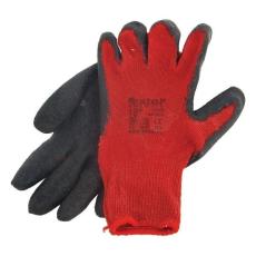 EXTOL PREMIUM EXTOL kötött kesztyű, pamut, vörös, méret: 10', latexbe mártott, csúszásgátló tenyér