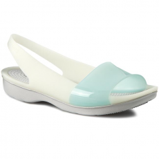 CROCS Szandál CROCS - Colorblock Flat W 200032 Sea Foam/Pearl White