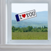 I Love You Rendszámtábla Tapadókoronggal