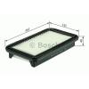 Bosch F026400093 Levegőszűrő HYUNDAI ACCENT, KIA RIO