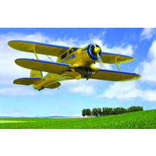 Beechcraft D17S repülő makett Roden 446 makett figura