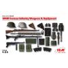 ICM WWII German Infantry Weapons & Equipment figura makett ICM 35638