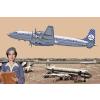 Douglas DC-7C Royal Dutch Airlines KLM repülő makett Roden 302