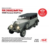 ICM G4 1935 production Soft Top, WWII German Staff Car makett ICM 72472