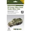 Vallejo US Olive Drab AFV paint set amerikai olívzöldhöz festékes szett vallejo 78402