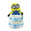 Pelenkatorta Webshop Babaváró ajándék ötlet: Minion Bob pelenkatorta kék