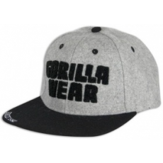 Gorilla Wear Soft Text Flat Brim baseball sapka (szürke) (1 db)