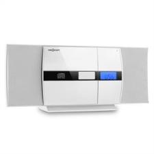 oneConcept auna V-15, fehér, sztereó rendszer, CD, USB, MP3, FM, AUX, ébresztőóra mini hifi rendszer