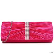 LY1683 - Miss Lulu London Ruched gyémánt pöttyded estélyi Táska Clutch táska Plum