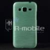 Samsung Galaxy Core Prime Szálcsiszolt Szilikon Tok Cián