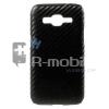Samsung Galaxy Core Prime Tok Karbon Mintás Műanyag Fekete