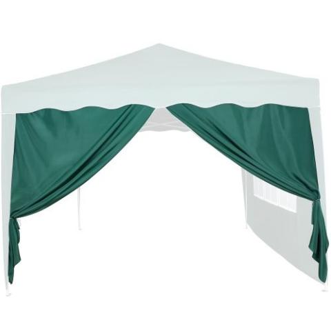 Oldalfal 3 x 3 m-es kerti sátorhoz - ablak nélkül, zöld - Kerti bútor: árak, összehasonlítás ...