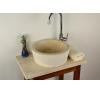 DIVERO Mosdókagyló természetes kőből - Venedig fürdőszoba kiegészítő