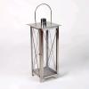 Lámpás rozsdamentes acélból, 55 cm