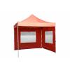 Összecsukható kerti parti sátor Profi –terrakotta, 3 x 3 m + 2 oldalfallal