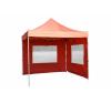 Összecsukható kerti parti sátor Profi –terrakotta, 3 x 3 m + 2 oldalfallal party kellék