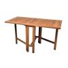Kerti összecsukható asztal DIVERO, tíkfából