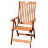 Kerti állítható szék HOLIDAY, lakkozott FSC