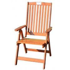 Kerti állítható szék HOLIDAY, lakkozott FSC kerti bútor