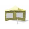 Összecsukható kerti parti sátor Profi –pezsgő szín, 3 x 3 m + 2 oldalfallal