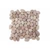 Mozaik Garth, burkolat - folyami kavics, bézs